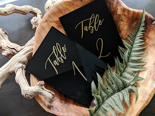 Table Numbers | Solid Painted Acrylic