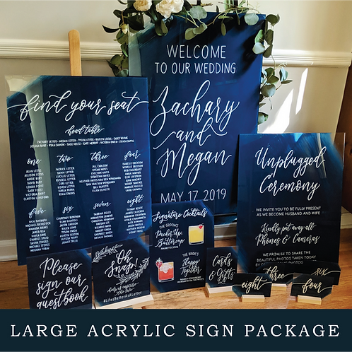 Large Acrylic Sign Package