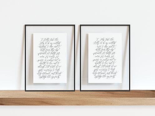 Custom Printed Vows (Set of 2)