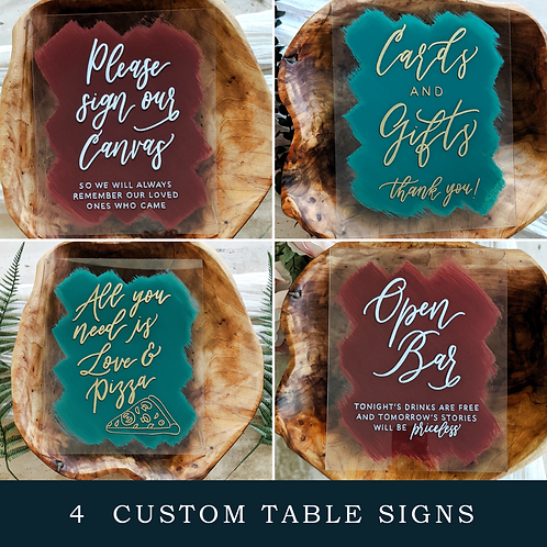 4 Customizable Table Signs