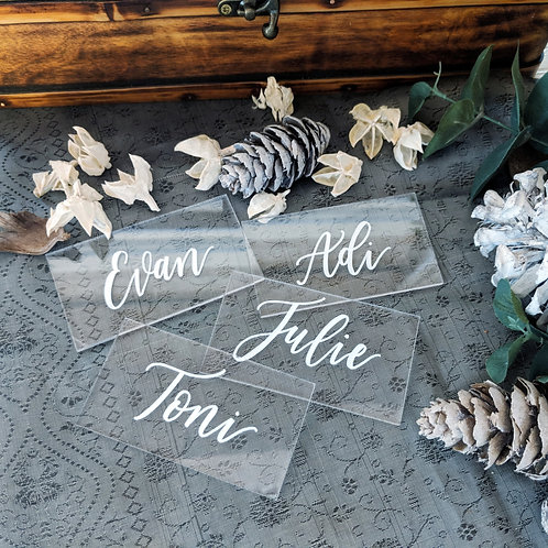 Place Cards | Clear Acrylic