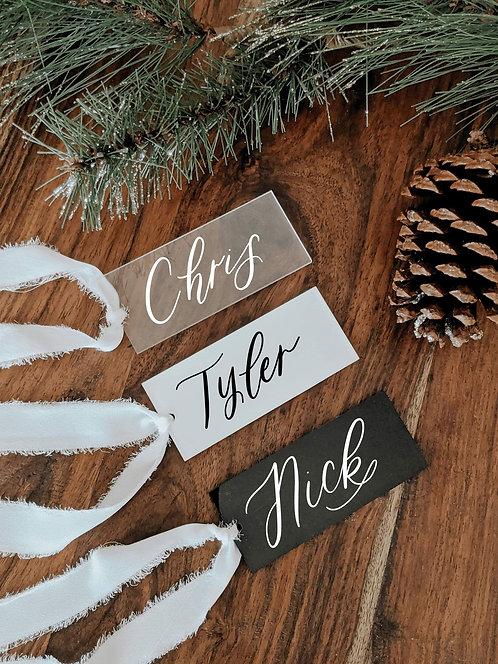 Set of 5 Custom Acrylic Gift/Stocking Tags