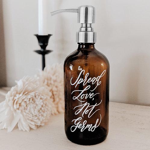 Glass Hand Sanitizer Bottle