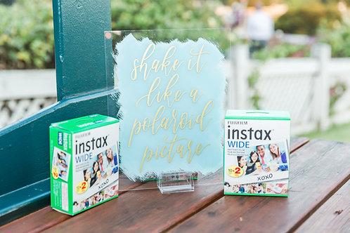 Shake It Like A Polaroid Picture Acrylic Sign | Polaroid Guestbook Sign