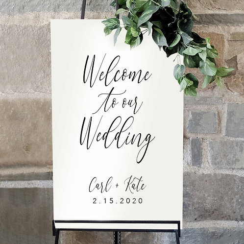 Welcome to our Wedding Sign | Solid Acrylic