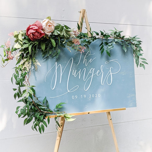 Last Name Established Sign | Solid Painted Acrylic
