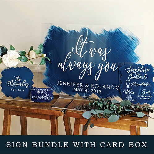 Sign Bundle with Card Box