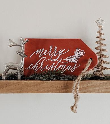 Merry Chritsmas Wood Sign Decor