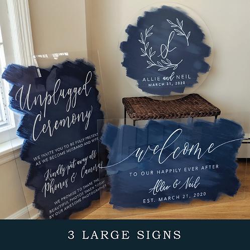 3 Large Signs Bundle