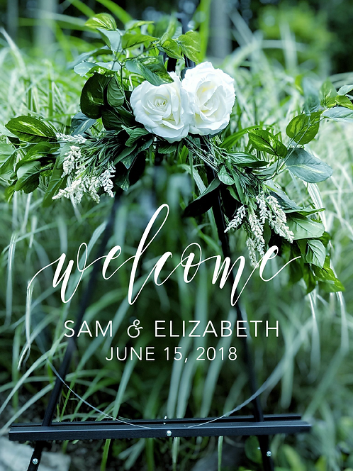 Welcome Sign | Round Clear Acrylic