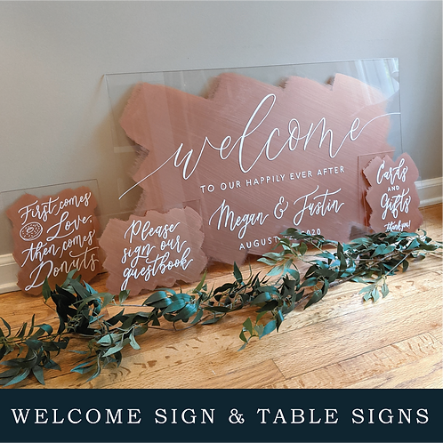 Welcome Sign & Table Signs Bundle