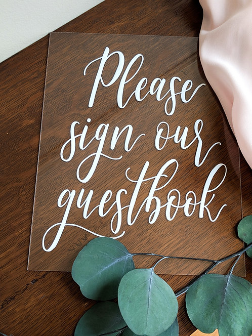 Please Sign Our Guestbook | Clear Acrylic