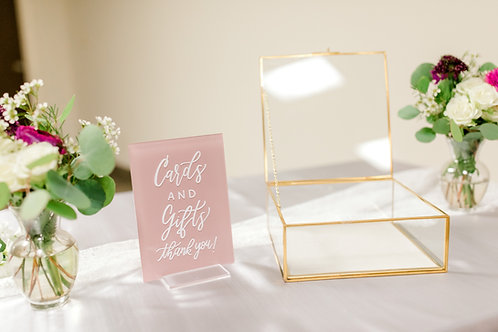 Cards and Gifts Acrylic Sign