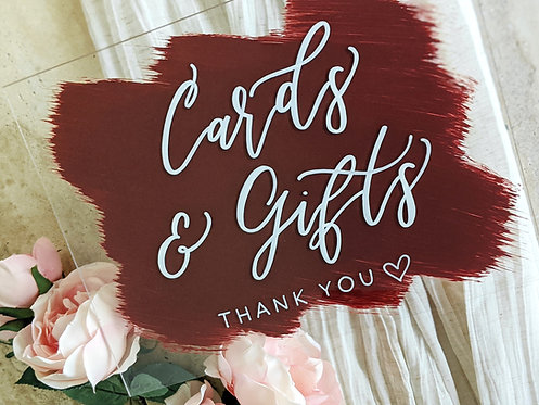 Cards & Gifts Brushed Acrylic Sign