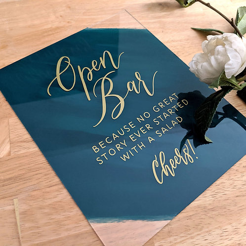 Open Bar Sign | Painted Acrylic