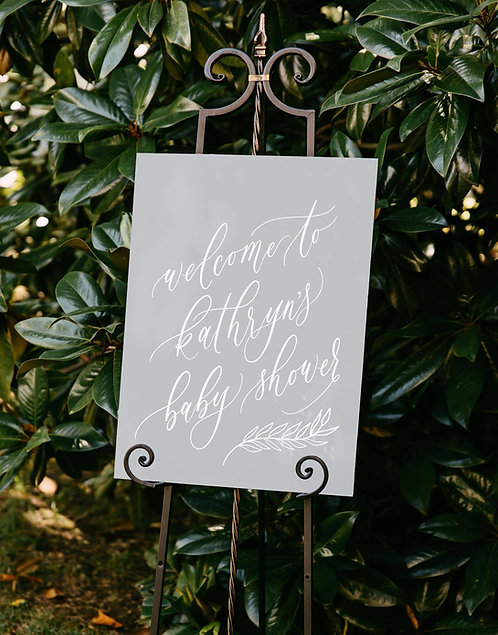 Baby Shower Welcome Sign | Acrylic