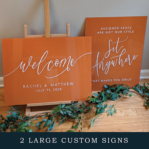 2 Large Custom Signs Bundle