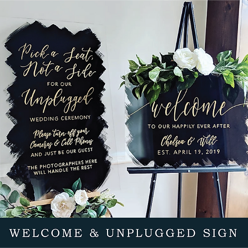 Welcome Sign, Unplugged Sign Bundle
