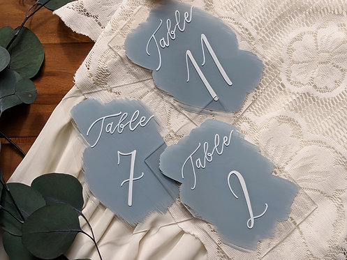 Table Numbers | Brushed Acrylic