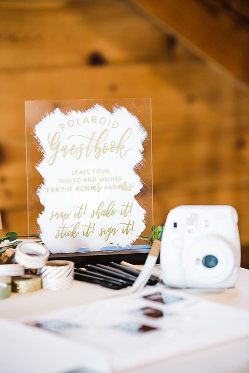 Polaroid Guestbook | Brushed Acrylic