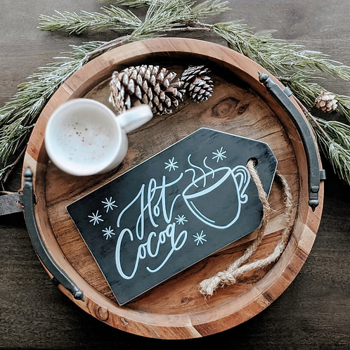 Hot Cocoa Wood Sign Decor
