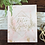 Thumbnail: Geometric Welcome Painted Marble with Blush and Gold   Acrylic