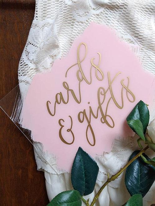 Cards & Gifts Horizontal Brushed Acrylic Sign