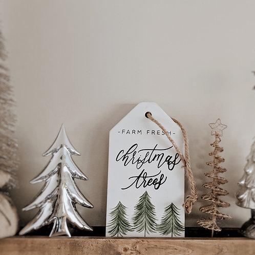Farm Fresh Christmas Trees Wood Sign Decor