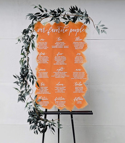 Our Favorite People Seating Chart | Colored Acrylic