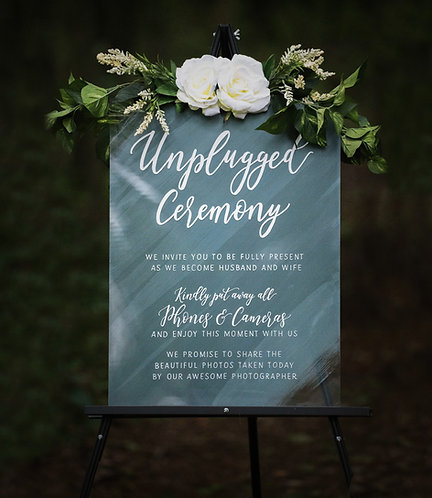 Unplugged Ceremony Sign | Painted Acrylic