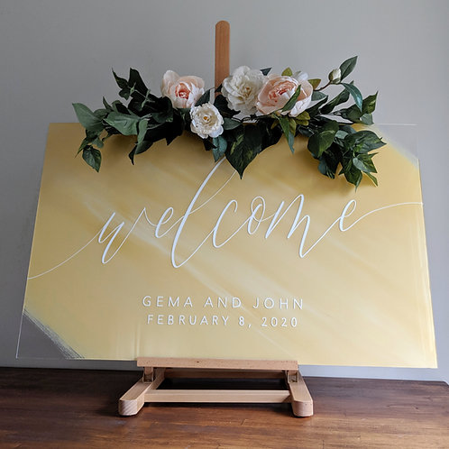 Welcome Sign | Painted Acrylic