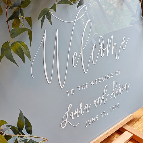 Welcome To The Wedding Sign | Acrylic