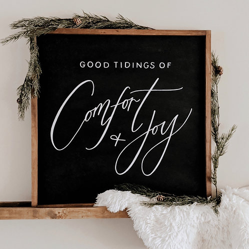 Good Tidings of Comfort and Joy Wood Sign