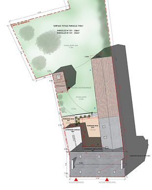 architecture plan masse maison individuelle ByElvireC