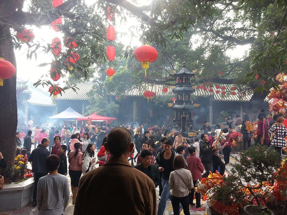 Año nuevo chino lámparas rojas Huizhou