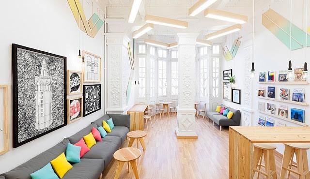 arquitectura escolar colores luz