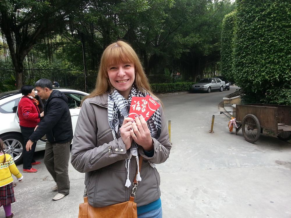 año nuevo chino sobres rojos