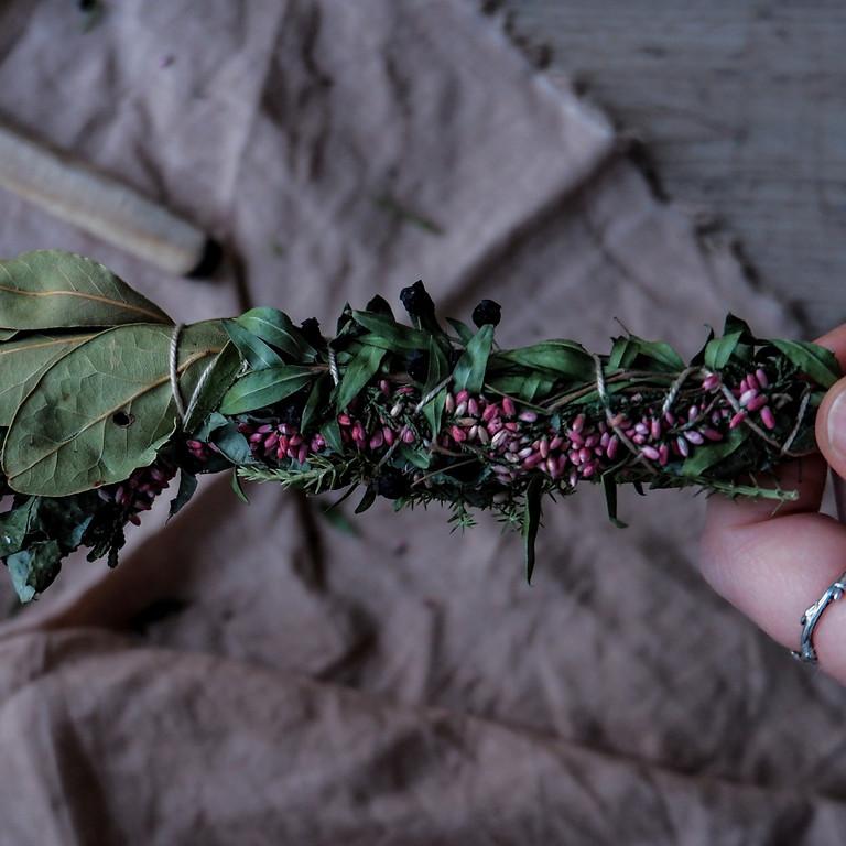 Poudres et encens de plantes