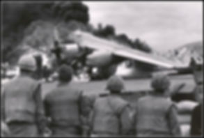 David Douglas Duncan photo of plane cras