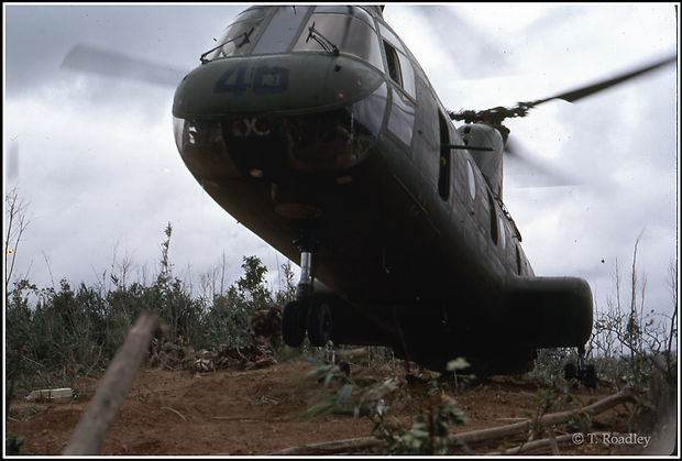 Slide 21 - CH-46 Delivering 81mm Mortar