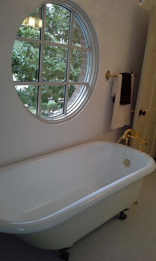 Vintage Tub in Modern Home