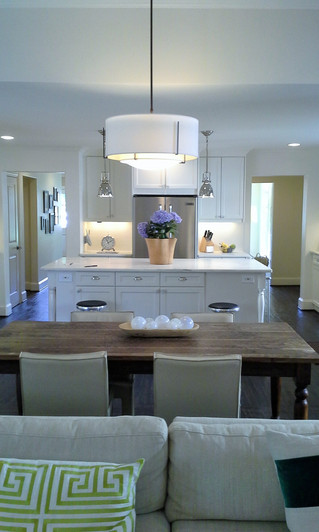 Dream Kitchen, White, Chrome, Modern, Clean