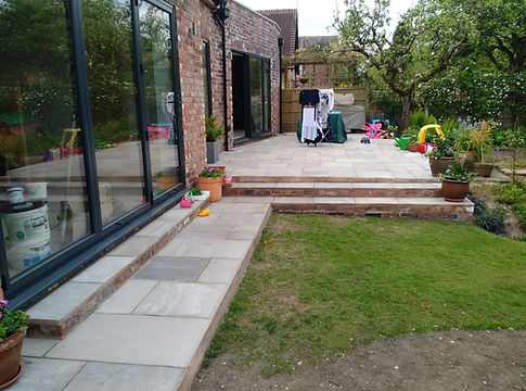 Altrincham India stone patio