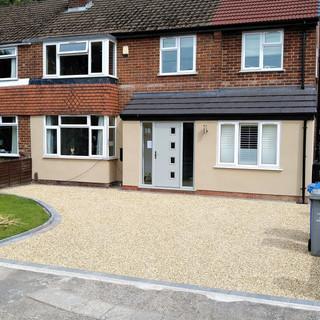 Core gravel driveway in Didsbury