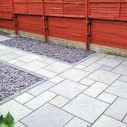 Grey limestone patio in Didsbury