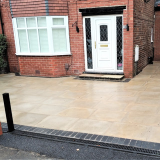 Flagged driveway in Didsbury