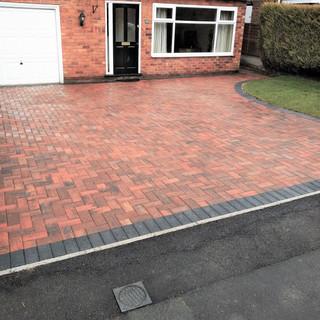 Standard block paved drive in Didsbury