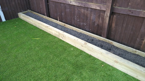 Timber sleepers and Artificial Grass altrincham