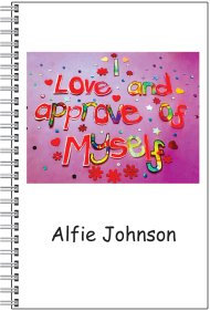 Notebook - Personalised - A5 Size - I love and approve of myself