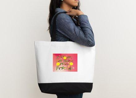 Shoulder bag - Positive Affirmation - If life gives you lemons make lemonade